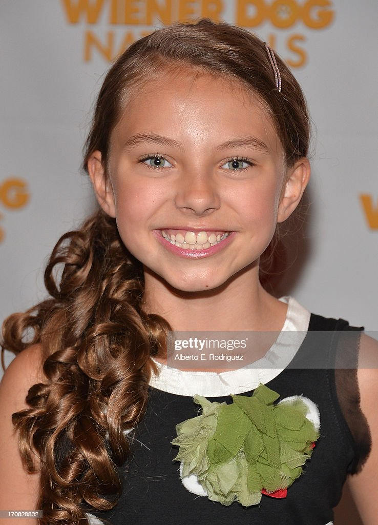 Actress Caitlin Carmichael arrive to the Premiere of 'Wiener Dog Nationals' at Pacific Theatre at The Grove on June 18, 2013 in Los Angeles, California.