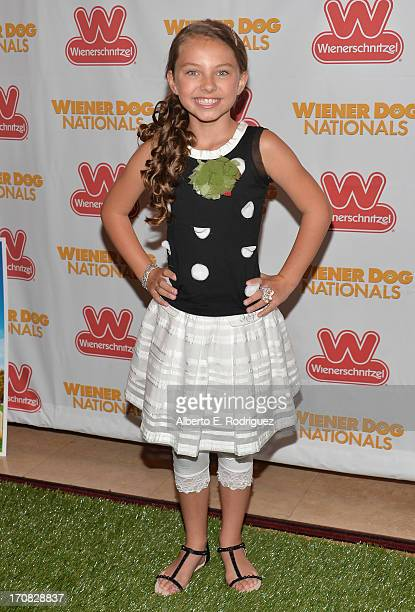 Actress Caitlin Carmichael arrive to the Premiere of 'Wiener Dog Nationals' at Pacific Theatre at The Grove on June 18 2013 in Los Angeles California