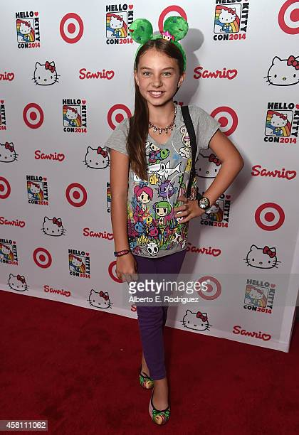 Actress Caitlin Carmichael arrives to Hello Kitty Con 2014 Opening Night Party Cohosted by Target on October 29 2014 in Los Angeles California