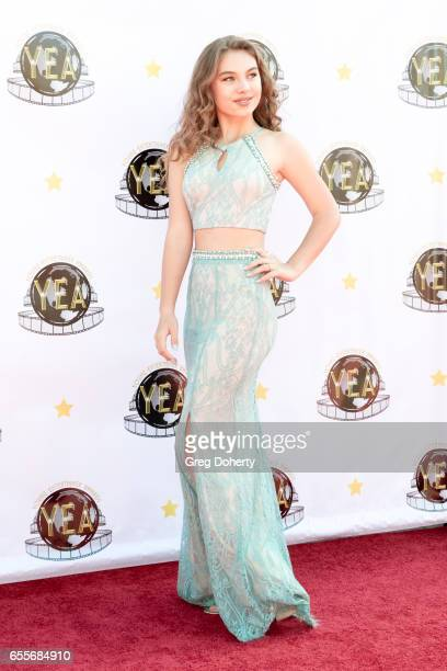 Actress Caitlin Carmichael attends the 2nd Annual Young Entertainer Awards at The Globe Theatre on March 19 2017 in Universal City California