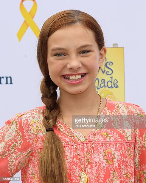 Actress Caitlin Carmichael attends the 5th annual LA Loves Alex's Lemonade fundraiser at Wilson Plaza at UCLA on September 20 2014 in Westwood...