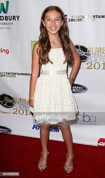 Actress Caitlin Carmichael attends the Burbank International Film Festival opening night at AMC Burbank 16 on September 3 2014 in Burbank California