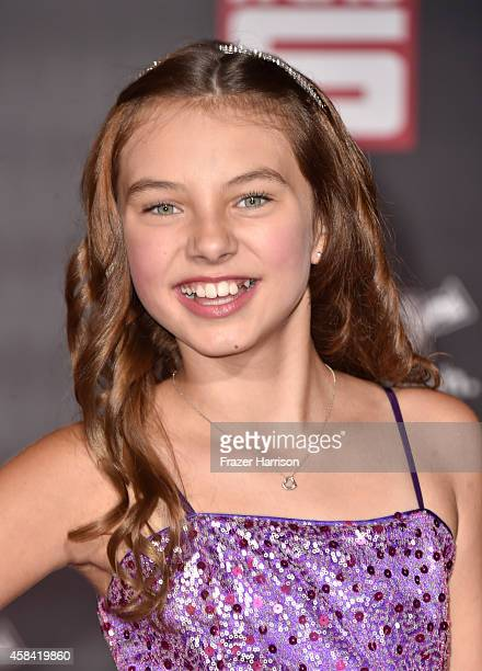 Actress Caitlin Carmichael attends the premiere of Disney's 'Big Hero 6' at the El Capitan Theatre on November 4 2014 in Hollywood California