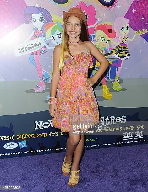 Actress Caitlin Carmichael attends the premiere of Hasbro Studios' 'My Little Pony Equestria Girls Rainbow Rocks' at TCL Chinese 6 Theatres on...