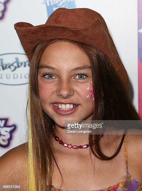 Actress Caitlin Carmichael attends the premiere of Hasbro Studios' 'My Little Pony Equestria Girls Rainbow Rocks' at the TCL Chinese 6 Theatres on...