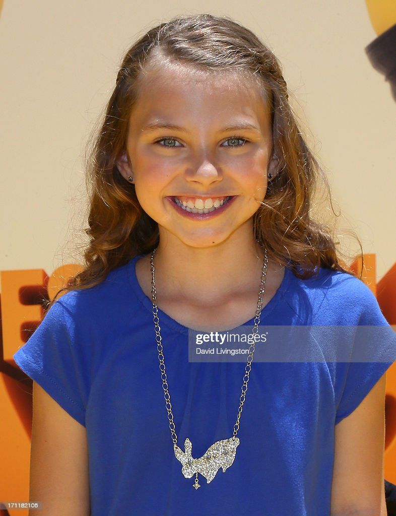 Actress Caitlin Carmichael attends the premiere of Universal Pictures' 'Despicable Me 2' at the Gibson Amphitheatre on June 22, 2013 in Universal City, California.