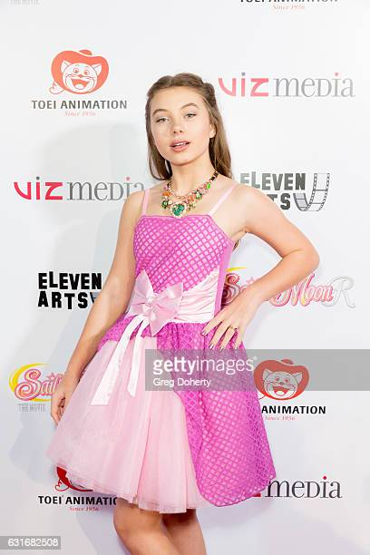 Actress Caitlin Carmichael attends the Theatrical Premiere Of Viz Media's 'Sailor Moon R The Movie' at The Theatre at Ace Hotel on January 13 2017 in...