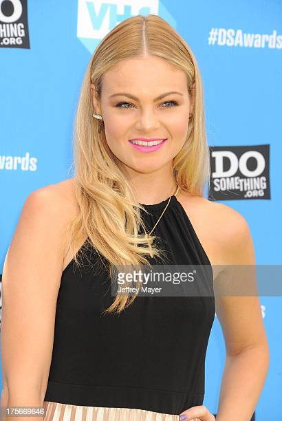 Actress Caitlin Crosby arrives at the DoSomethingorg and VH1's 2013 Do Something Awards at Avalon on July 31 2013 in Hollywood California