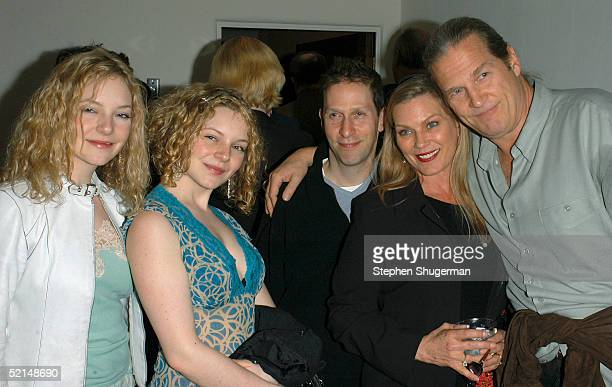 Actress Caitlin Dahl actress Melinda Dahl actor Tim Blake Nelson guest and actor Jeff Bridges attend the Santa Barbara Film Festival's Closing Night...