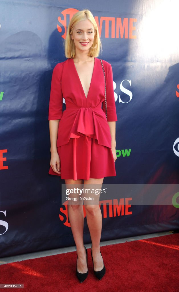 Actress Caitlin FitzGerald arrives at the 2014 Television Critics Association Summer Press Tour - CBS, CW And Showtime Party at Pacific Design Center on July 17, 2014 in West Hollywood, California.