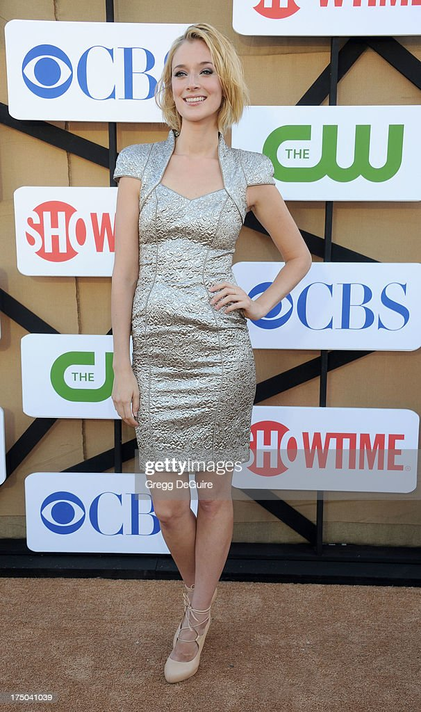Actress Caitlin FitzGerald arrives at the CBS/CW/Showtime Television Critic Association's summer press tour party at 9900 Wilshire Blvd on July 29, 2013 in Beverly Hills, California.