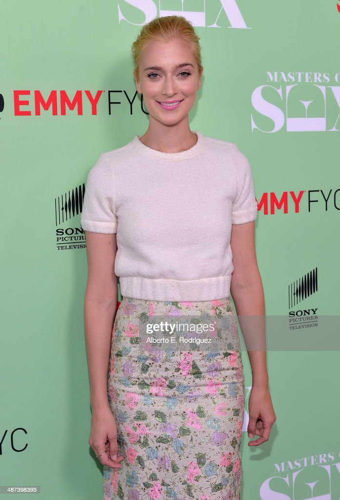 Actress <a gi-track='captionPersonalityLinkClicked' href=/galleries/search?phrase=Caitlin+Fitzgerald&family=editorial&specificpeople=6580444 ng-click='$event.stopPropagation()'>Caitlin Fitzgerald</a> arrives to an exclusive conversation with the cast of Showtime's 'Masters Of Sex' at Leonard H. Goldenson Theatre on April 29, 2014 in North Hollywood, California.