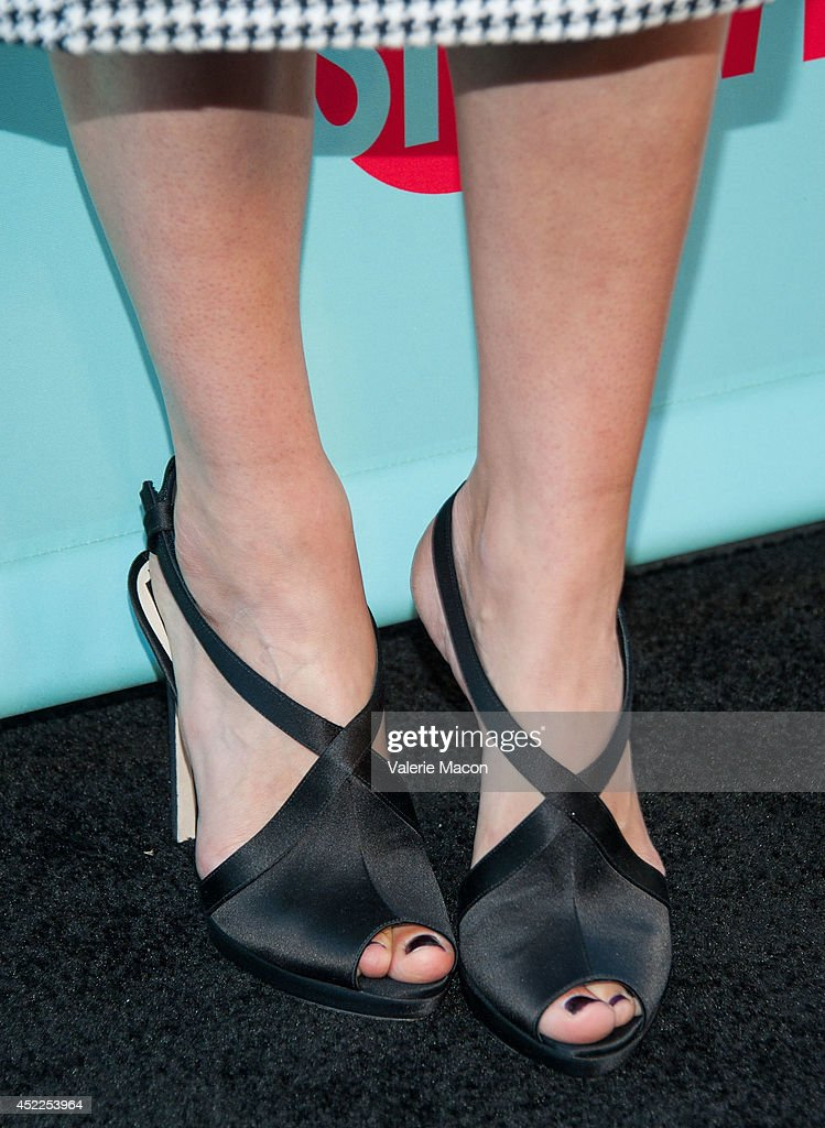 Actress Caitlin Fitzgerald (shoe detail) attends Showtime's 'Masters Of Sex' Season 2 - 2014 Summer TCA Press Tour Event at Sony Pictures Studios on July 16, 2014 in Culver City, California.