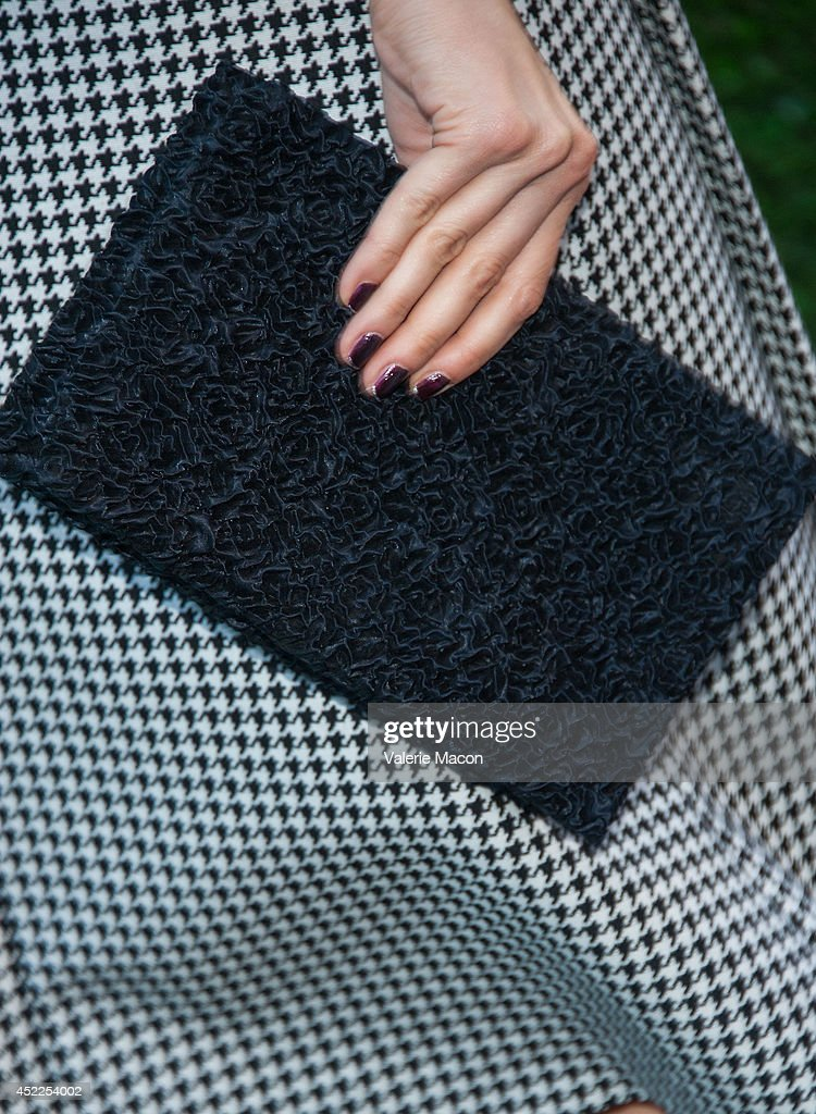 Actress Caitlin Fitzgerald (purse detail) attends Showtime's 'Masters Of Sex' Season 2 - 2014 Summer TCA Press Tour Event at Sony Pictures Studios on July 16, 2014 in Culver City, California.