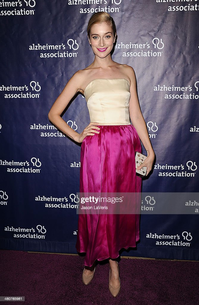 Actress Caitlin Fitzgerald attends the 22nd 'A Night At Sardi's' at The Beverly Hilton Hotel on March 26, 2014 in Beverly Hills, California.