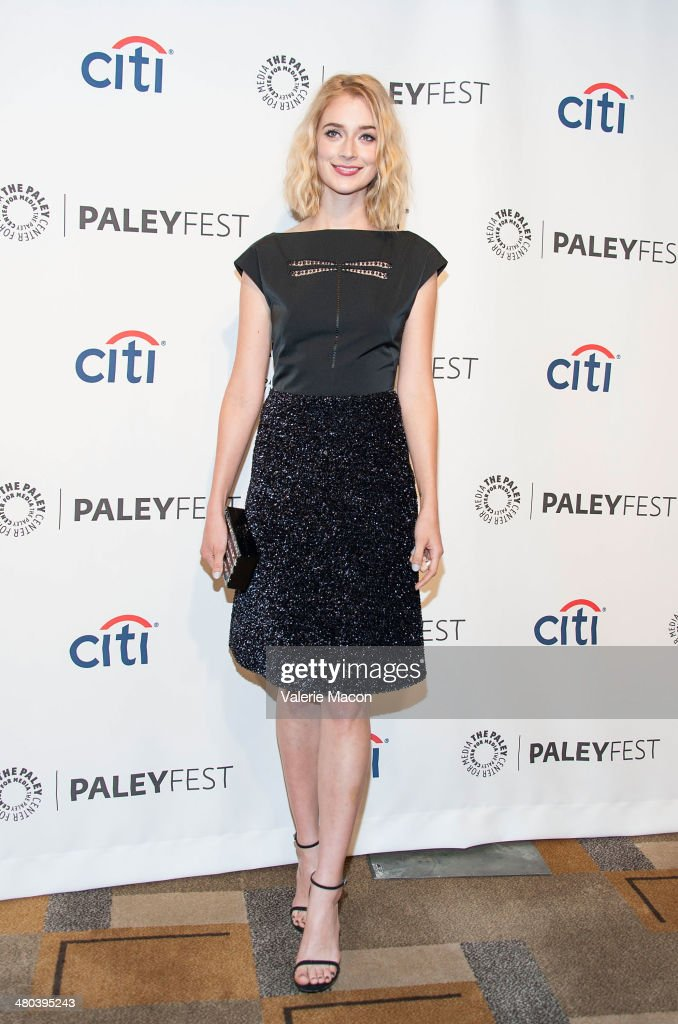 Actress <a gi-track='captionPersonalityLinkClicked' href=/galleries/search?phrase=Caitlin+Fitzgerald&family=editorial&specificpeople=6580444 ng-click='$event.stopPropagation()'>Caitlin Fitzgerald</a> attends The Paley Center For Media's PaleyFest 2014 Honoring 'Masters Of Sex' at Dolby Theatre on March 24, 2014 in Hollywood, California.