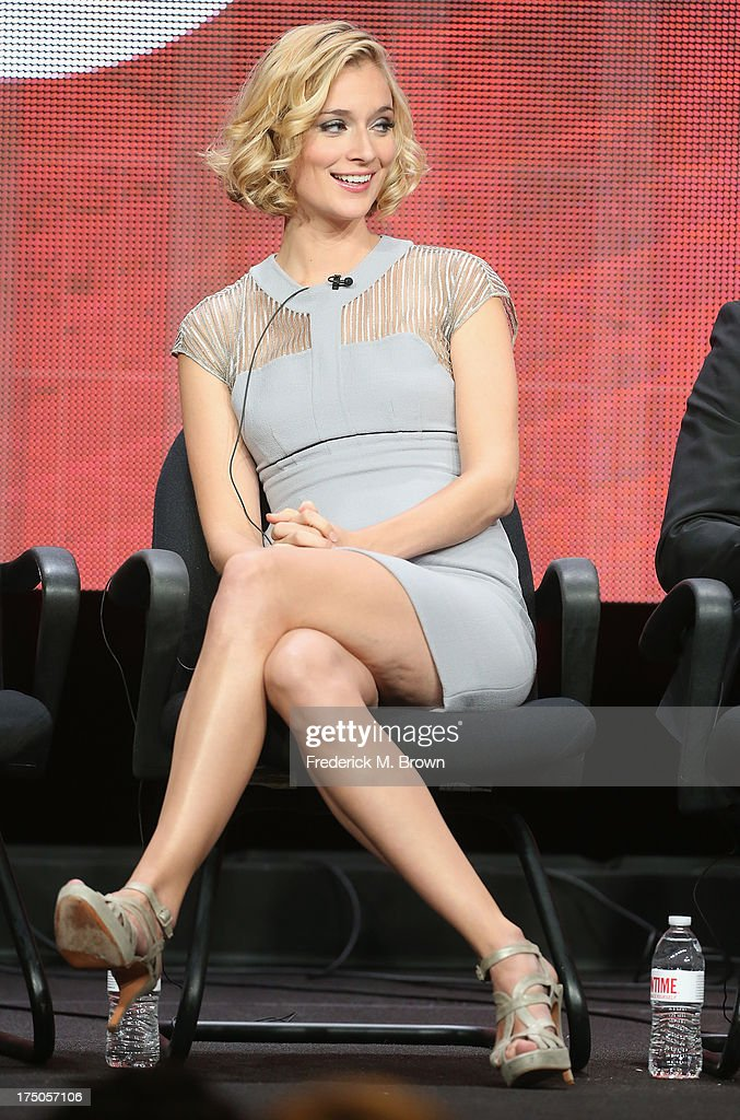 Actress <a gi-track='captionPersonalityLinkClicked' href=/galleries/search?phrase=Caitlin+Fitzgerald&family=editorial&specificpeople=6580444 ng-click='$event.stopPropagation()'>Caitlin Fitzgerald</a> speaks onstage during the 'Masters of Sex' panel discussion at the CBS, Showtime and The CW portion of the 2013 Summer Television Critics Association tour at the Beverly Hilton Hotel on July 30, 2013 in Beverly Hills, California.