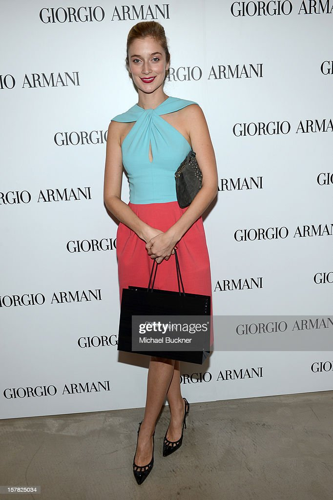Actress Caitlin Fitzgerald, wearing Giorgio Armani attends the Giorgio Armani Beauty Luncheon on December 6, 2012 in Beverly Hills, California.