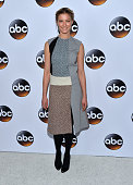 Actress Caitlin Gerard arrives at the ABC TCA 'Winter Press Tour 2015' Red Carpet on January 14 2015 in Pasadena California