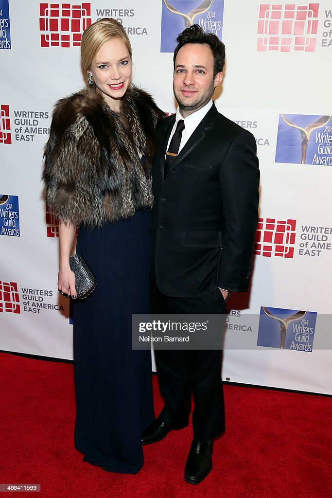 Actress Caitlin Mehner and writer Danny Strong attend The 66th Annual Writers Guild Awards East Coast Ceremony at The Edison Ballroom on February 1, 2014 in New York City.