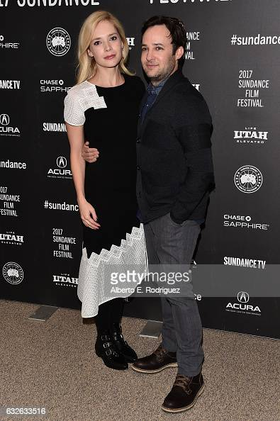 Actress Caitlin Mehner and writer/director Danny Strong attend the 'Rebel In The Rye' Premiere on day 6 of the 2017 Sundance Film Festival at Eccles...