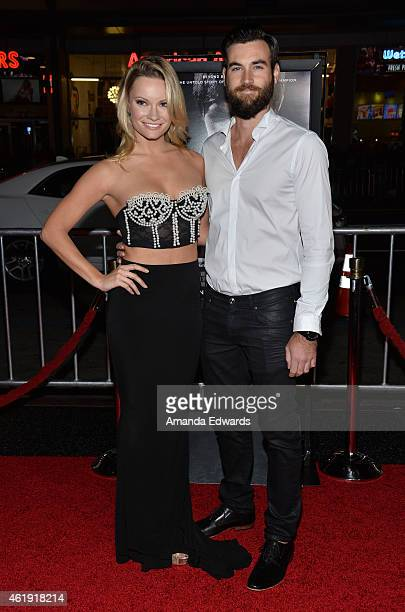 Actress Caitlin O'Connor and George Ballenger arrive at the Los Angeles premiere of 'Manny' at the TCL Chinese Theatre on January 20 2015 in...