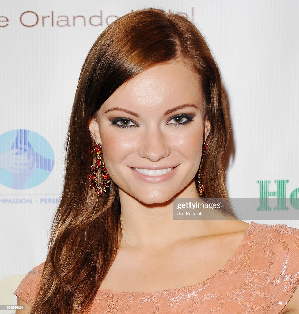 Actress Caitlin O'Connor arrives at the 2nd Annual Chris4Life Celebrity Auction at SLS Hotel on April 5, 2013 in Beverly Hills, California.