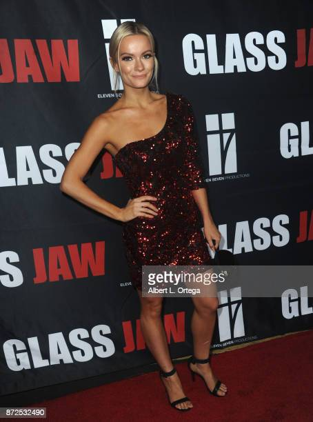 Actress Caitlin O'Connor arrives for the Premiere Of 'Glass Jaw' held at Universal Studios Hollywood on November 9 2017 in Universal City California