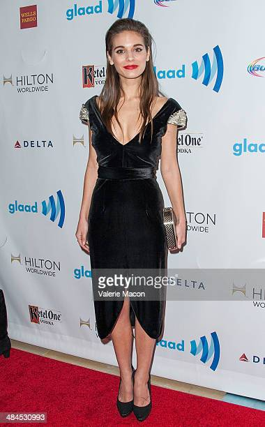 Actress Caitlin Stasey arrives at the 25th Annual GLAAD Media Awards at The Beverly Hilton Hotel on April 12 2014 in Beverly Hills California