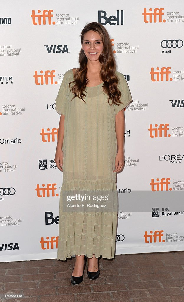 Actress Caitlin Stasey arrives at the 'All Cheerleaders Die' premiere during the 2013 Toronto International Film Festival at Ryerson Theatre on...