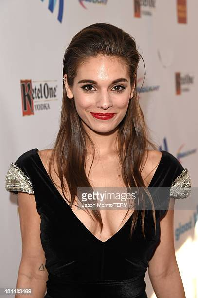 Actress Caitlin Stasey attends the 25th Annual GLAAD Media Awards at The Beverly Hilton Hotel on April 12 2014 in Los Angeles California