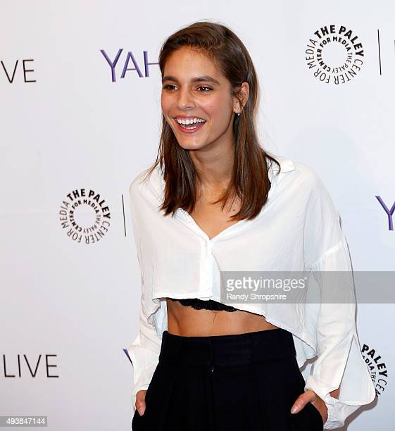 Actress Caitlin Stasey attends the screening of 'Please Like Me' at The Paley Center for Media on October 22 2015 in Beverly Hills California