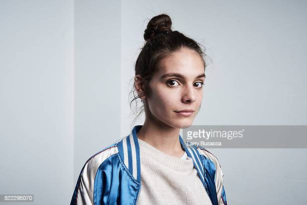 Actress Caitlin Stasey from 'Fear Inc' poses at the Tribeca Film Festival Getty Images Studio on April 17 2016 in New York City