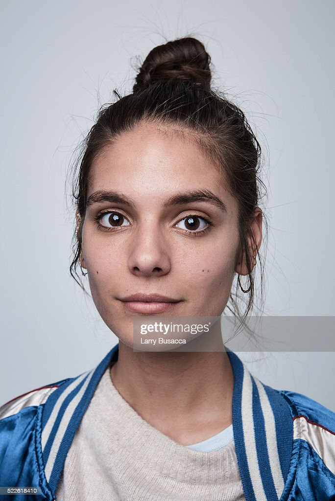 Actress Caitlin Stasey from 'Fear, Inc.' poses at the Tribeca Film Festival Getty Images Studio on April 17, 2016 in New York City.