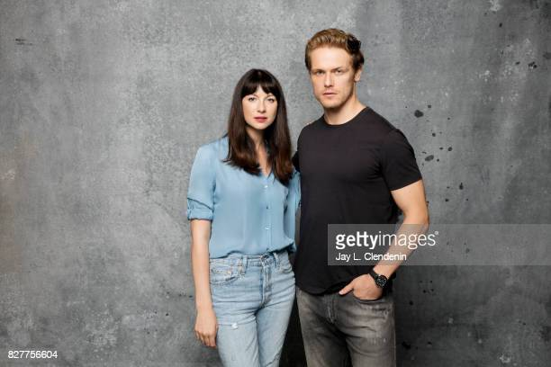 Actress Caitriona Balfe and actor Sam Heughan from the television series 'Outlander' are photographed in the LA Times photo studio at ComicCon 2017...