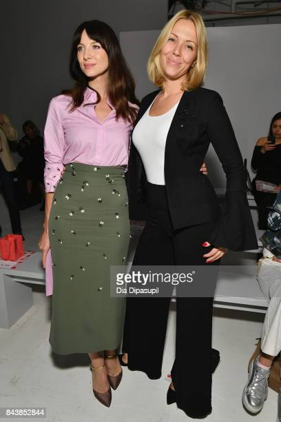 Actress Caitriona Balfe and Tara Swennen attends Noon By Noor fashion show during New York Fashion Week The Shows at Gallery 3 Skylight Clarkson Sq...