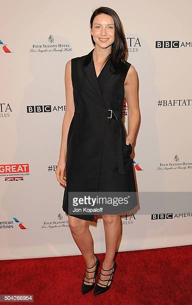 Actress Caitriona Balfe arrives at BAFTA Los Angeles Awards Season Tea at Four Seasons Hotel Los Angeles at Beverly Hills on January 9 2016 in Los...