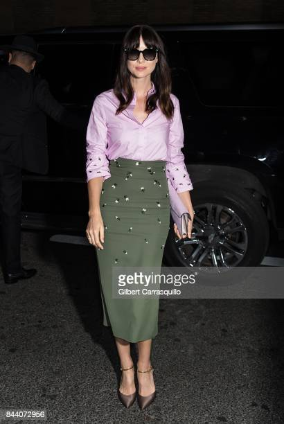 Actress Caitriona Balfe arrives at Noon By Noor fashion show during New York Fashion Week The Shows at Gallery 3 Skylight Clarkson Sq on September 7...
