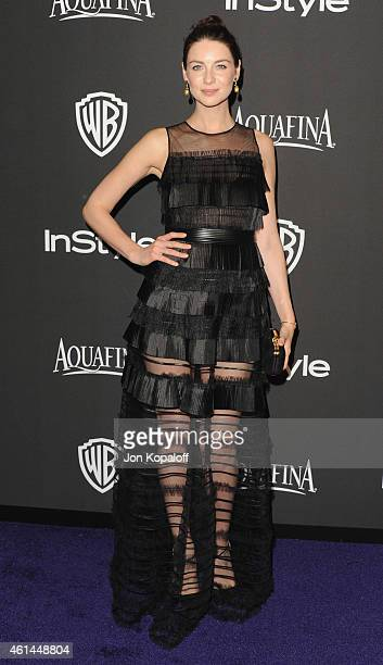 Actress Caitriona Balfe arrives at the 16th Annual Warner Bros And InStyle PostGolden Globe Party at The Beverly Hilton Hotel on January 11 2015 in...