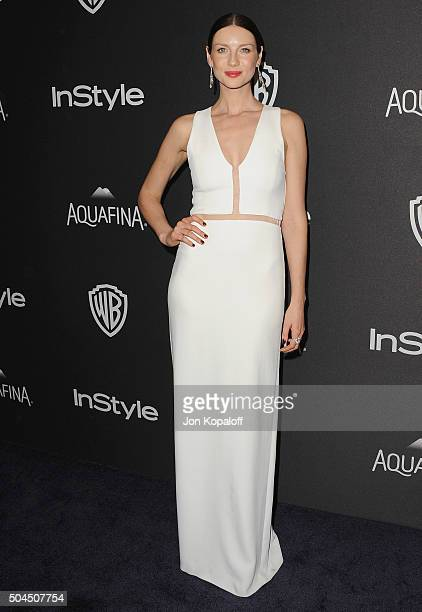Actress Caitriona Balfe arrives at the 2016 InStyle And Warner Bros 73rd Annual Golden Globe Awards PostParty at The Beverly Hilton Hotel on January...