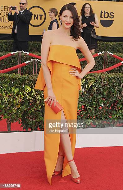 Actress Caitriona Balfe arrives at the 21st Annual Screen Actors Guild Awards at The Shrine Auditorium on January 25 2015 in Los Angeles California