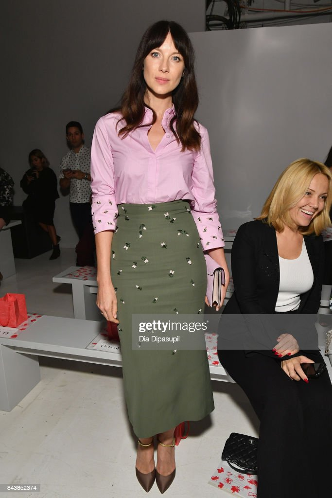 Actress Caitriona Balfe attends Noon By Noor fashion show during New York Fashion Week: The Shows at Gallery 3, Skylight Clarkson Sq on September 7, 2017 in New York City.