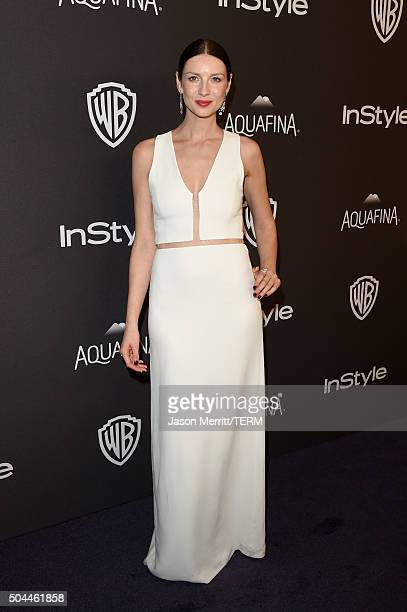 Actress Caitriona Balfe attends The 2016 InStyle And Warner Bros 73rd Annual Golden Globe Awards PostParty at The Beverly Hilton Hotel on January 10...