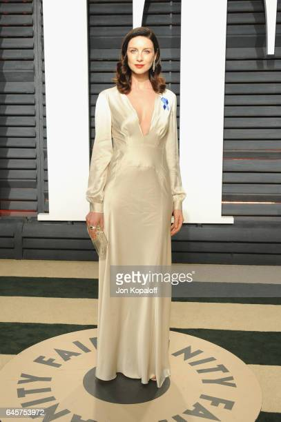 Actress Caitriona Balfe attends the 2017 Vanity Fair Oscar Party hosted by Graydon Carter at Wallis Annenberg Center for the Performing Arts on...
