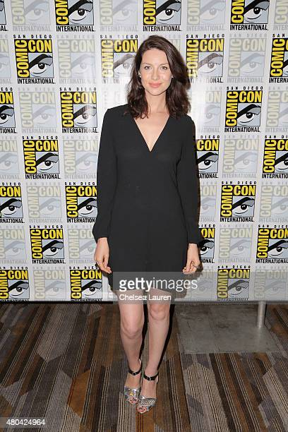 Actress Caitriona Balfe attends the 'Outlander' press room during ComicCon International 2015 at the Hilton Bayfront on July 11 2015 in San Diego...