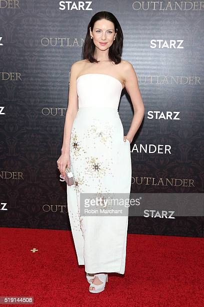 Actress Caitriona Balfe attends the 'Outlander' Season Two World Premiere at American Museum of Natural History on April 4 2016 in New York City
