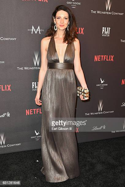 Actress Caitriona Balfe attends The Weinstein Company and Netflix Golden Globe Party presented with FIJI Water Grey Goose Vodka Lindt Chocolate and...