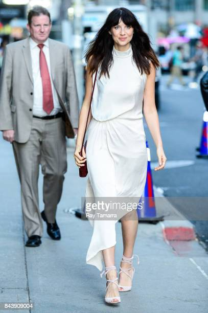 Actress Caitriona Balfe enters the 'The Late Show With Stephen Colbert' taping at the Ed Sullivan Theater on September 07 2017 in New York City