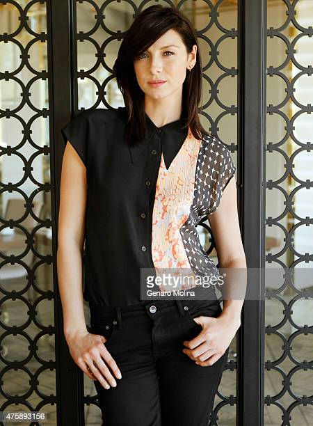 Actress Caitriona Balfe is photographed at the The London West Hollywood Hotel for Los Angeles Times on March 13 2015 in West Hollywood California...