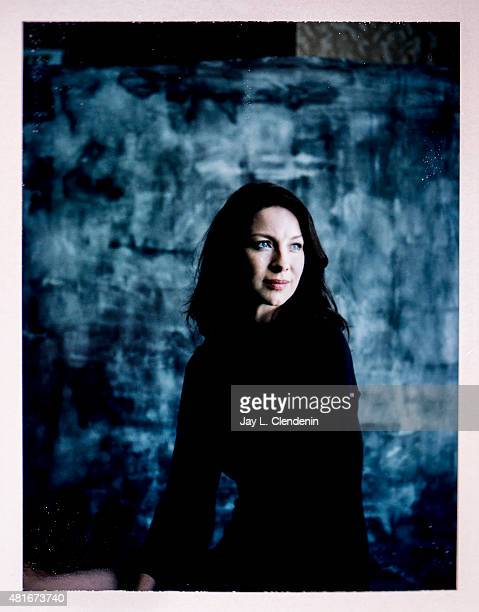 Actress Caitriona Balfe of 'Outlander' is photographed on polaroid film at ComicCon International 2015 for Los Angeles Times on July 9 2015 in San...